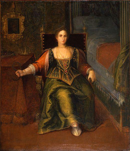 Ritratto di donna in sembianza di Cleopatra