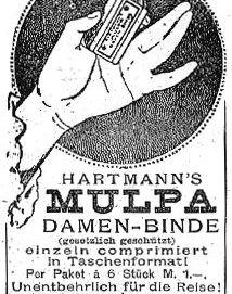 Pubblicità per tamponi mestruali Hartmann