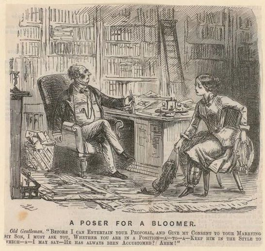 Proposta di matrimonio di una Bloomer