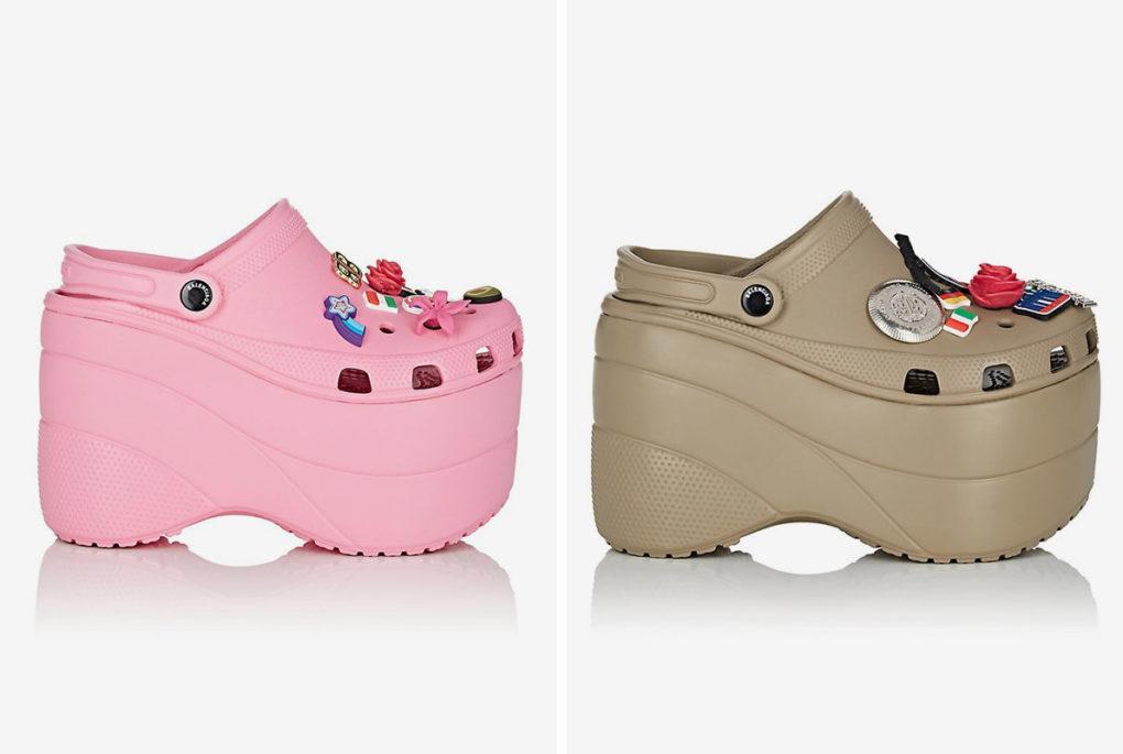 Balenciaga platform crocs